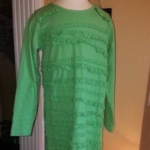 Hanna Andersson Everyday Dress with ruffles EUC
